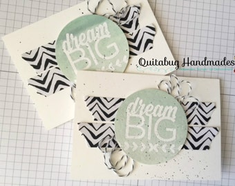 Stampin' Up! Graduation Card-SMALL NOTECARD- Enjoy the Little Things- Dream Big