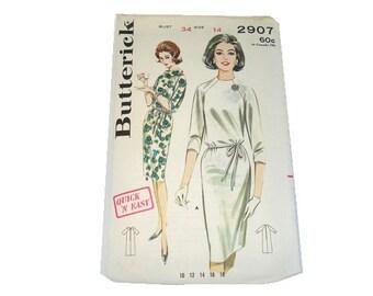 Vintage Sewing Pattern Butterick Shift Dress Sewing Pattern