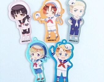 Custom kawaii anime manga 2D Hetalia Decoden Phonecase for Iphone 4/4s 5 6, Galaxy s3 S4 s5 and more
