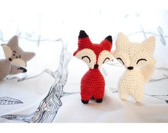 Little Fox or Wolf amigurumi crochet PDF pattern