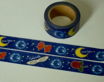 1 Roll of Limited Edition Washi Masking Tape- Sailor Moon & Tuxedo Mask