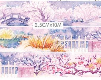 1 Roll of Limited Edition Washi Tape: Winter Plum Samuume