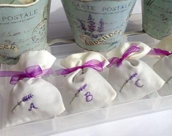Personalised lavender bag,  pure lavender no fillers, mothers day, bespoke , lavender sachet- hand sewn - Scottish Gift - Scottish Lavender