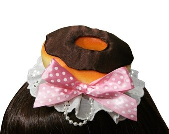 Sweet Chocolate Frosted Donut Hair Clip - More Bow Colors Available!