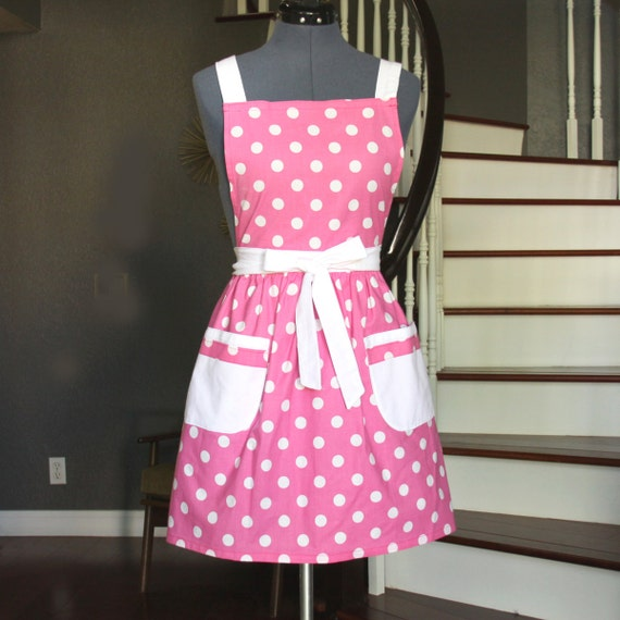 pink aprons for women aprons with pockets womens aprons. Black Bedroom Furniture Sets. Home Design Ideas