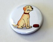 Dog and a Bone Button
