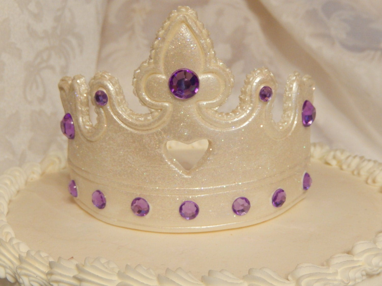 Cake Decoration Crown : Gumpaste Princess Tiara Crown Cake Topper Decoration