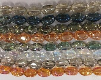13x20mm irregular  glass nugget beads, 15beads
