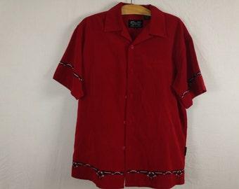 tribal button up shirt size M