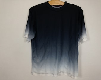 black to white faded shirt size S
