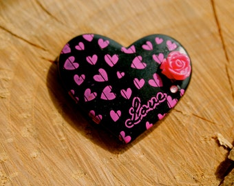 Large Oversized Heart Magnet By MillyPops - Black, Pink, Kitsch, Fairy Kei, Lolita, Love