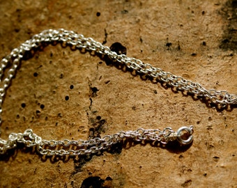 "Silver plated 16"" chain, perfect for use on all MillyPops pendants"