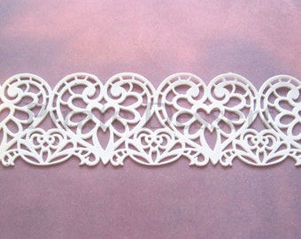 EDIBLE LACE - Sugar lace - lace Cake Wrap - Heart Lace - Wedding Cake decorations - elegant Cake decoration - Lace Wedding Cake (Heart lace)