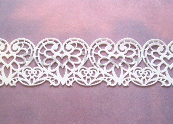Cake Decorating With Edible Lace : EDIBLE LACE Sugar lace lace Cake Wrap Heart Lace