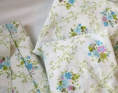 Vintage sheet crib sheet, changing pad cover, and scraps for Heather