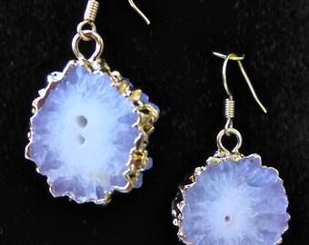 Stalactite slice earrings