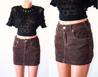 Vintage VELVET Skirt, size S-M  /36-38/