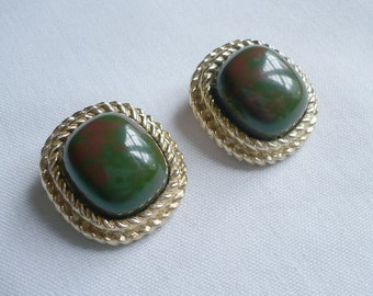 1960s-Mosaic Earrings-Sarah Coventry