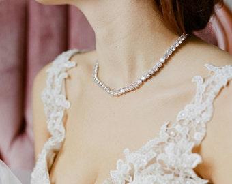 Bridal Necklace, Statement Necklace,  Wedding Jewelry, Cubic Zirconia Necklace, Bridal Jewelry Necklace, CZ Necklace, SKYLAR Necklace