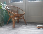Vintage bamboo kids chair