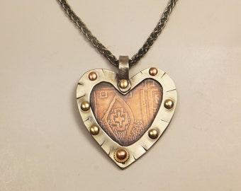 Rustic Heart Pendant
