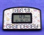 Days 'til Baby or Grandbaby Countdown Clock - Gender neautral