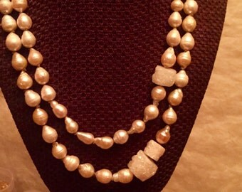 Sandy Mother of Dragon Pearl Necklaces