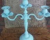 Candelabra, wedding candles, upcycled