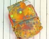 READY TO SHIP! Starburst Dyed - One Size (size 2) Hybrid Fitted Windpro Cloth Diaper, hand-dyed, velour