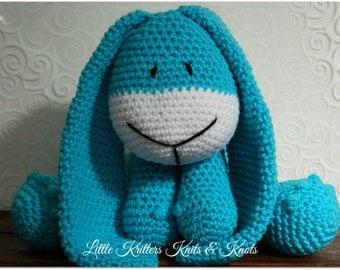 Aqua Bunny Amigurumi Stuffed Toy