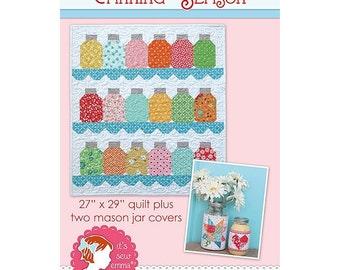 Canning Season by It's Sew Emma Quilt Pattern & Mason Jar Covers