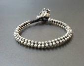Round  Silver  Bracelet