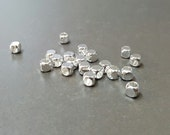 4 mm  Cube Silver Brass Bead