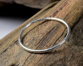 Solid 925 sterling silver dainty stacking ring 1.5 mm you choose size