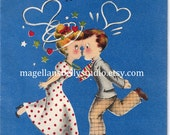 Anniversary Valentine's Love Instant Digital Download Man Woman Husband Wife couple Hearts Kissing