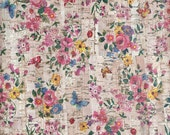 """Cork leather, green product, Portuguese cork fabric, small flowers Printed pattern 68x50cm / 27.50""""x20"""","""