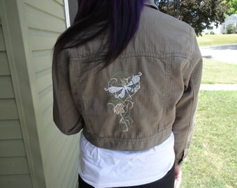 Ladies long sleeved embroidered jacket size 2X, The Elven Court