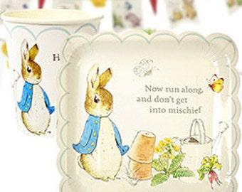 Peter Rabbit party supplies, peter rabbit birthday, peter rabbit 1st Birthday, peter rabbit Baby Shower, peter rabbit plates, peter rabbit