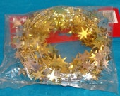 Gold and Silver Stars Metallic Festive Garland - Wire Garland - Total 18 Feet - Floral, Wreath Accent, Fabric, Costume Accent