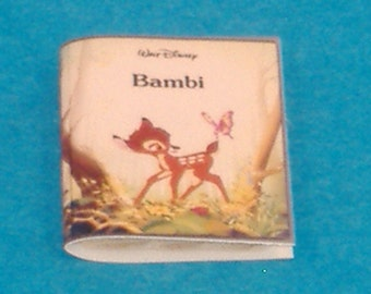 Miniature Vintage Walt Disney Presents Bambi, the Book - Great Accessory for Your Dollhouse, Shadow Box