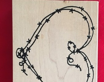 Barbed Wire Heart Stamp