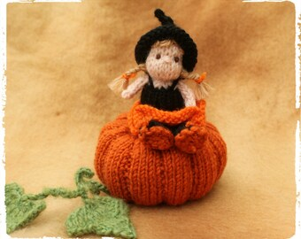Little Miss Pumpkin knitting pattern PDF