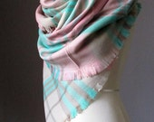 Tartan scarf, plaid scarf, blanket scarf, oversized winter scarf
