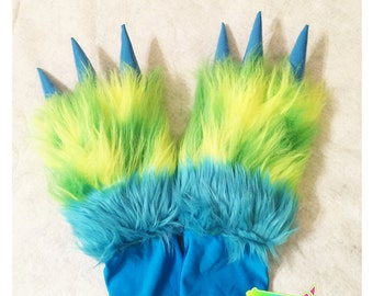 Green & Blue Monstar Paws