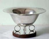 French Art Deco ERCUIS Hallmarked and Inscribed Trophy for French Pigeon Club 1935 - Pigeon Fancier Prize - PRESTIGIOUS MAKER - Silver Plate