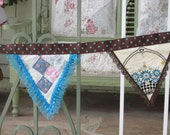 2X Treasury List Bunting **GLaMpErS DivA's TREASURY List**Turquoise Trailer Bunting, RV decor, Glamping Trailer Bunting