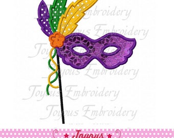Instant Download Mardi Gras Mask Applique  Machine Embroidery Design NO:1942