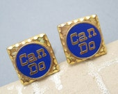 Can Do Vintage Advertising Cufflinks Tie Tack Set  H751