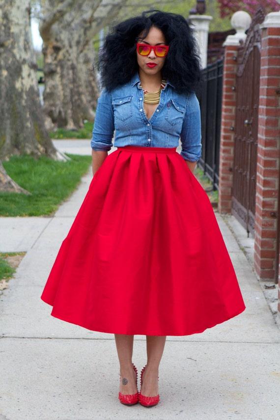 wide voluminous midi skirt sale by tribalgroove on etsy