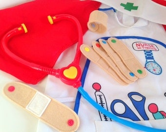 Pretend Play Felt Plasters / Band Aids, for Dr & Nurse Toy Medical First Aid Sets